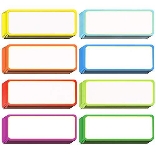 40 Pieces Magnetic Dry Erase Labels Name Plate Tags Flexible Magnetic Label Stickers for Whiteboards Refrigerator Crafts (Color B, 3.2 x 1.2 - Label Plate