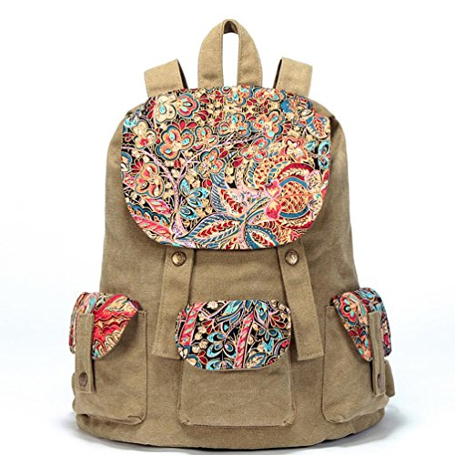 Chang Spent mochilas bolso de lona bolsa de ocio Sra. Nacionales viento (de cuatro colores opcionales) , h g