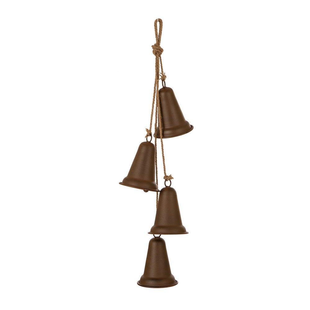 Glitzhome Jingle Bell Christmas Ornaments Xmas Tree Window Hanging Decor
