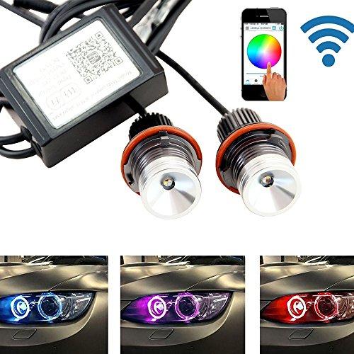 Newsun Replacement RGB with Wifi LED Angel Eyes Light for BMW E39 E53 E60 E61 E63 E65 E87 1 3 5 7 Series