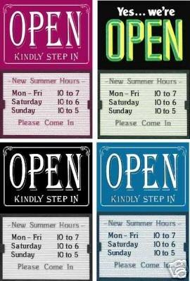 Closed Message Board - Open Closed Message Board Signs