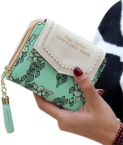 Ladies Clutch Wallet,Hemlock Women Pocket Wallet Credit Card Purse MIni Handbag (Green)