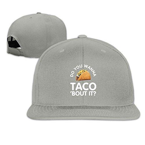 The League Taco Costume (Runy Custom Do You Wanna Taco Adjustable Baseball Hat & Cap Ash)