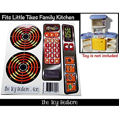 New Replacement Decals Fits Little Tikes Family Kitchen Bright Colors: Arts, Crafts & Sewing
