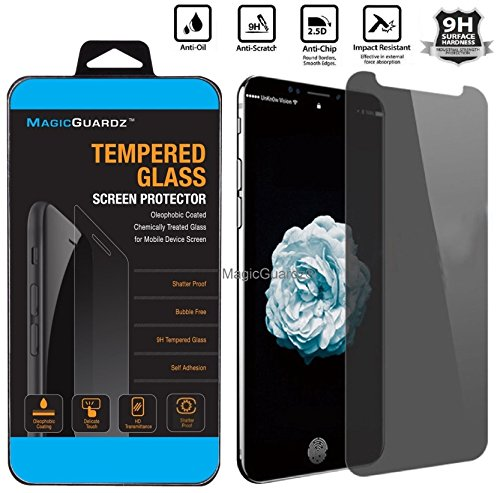 MagicGuardz, Made for Apple 5.8 iPhone X, Privacy Anti-Spy Tempered Glass Screen Protector Shield, Retail Box