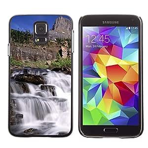 SHIMIN CAO- Dise?o Caso duro de la cubierta Shell protector FOR Samsung Galaxy S5 I9600 G9009 G9008V- River Water View