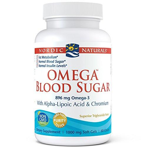 - Nordic Naturals - Omega Blood Sugar, With Alpha-Lipoic Acid & Chromium, 60 Soft Gels