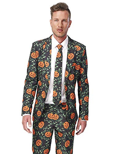 Suitmeister Halloween Costumes for Men – Pumpkin Leaves - Include Jacket Pants & Tie ()