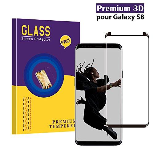 Panzerglas Schutzfolie für Samsung Galaxy S8,CaiLai Qualität 3D Gehärteter Glas panzerfolie [HD klar] [Anti Fingerabdruck] [Blasenfrei] [Anti-Kratzen] 3D Displayschutzfolie folie für Samsung Galaxy S8