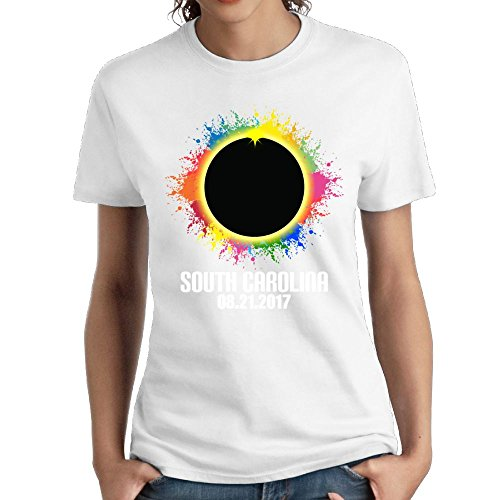 (Colored Total Solar Eclipse Lady' Summer Slim T-Shirts Short Sleeve )