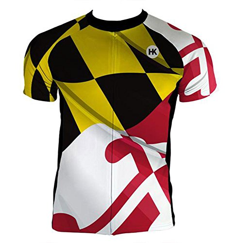 Cycling Maryland Jersey - Hill Killer 'Pride of Maryland' Men's Cycling Jersey (Large)