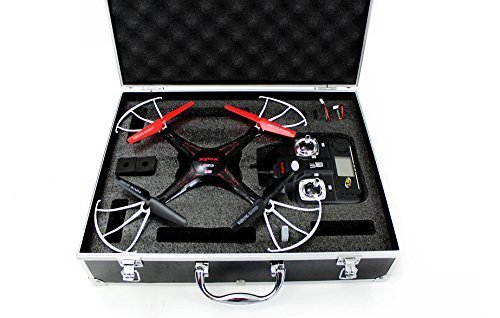 Syma-X5C-Quadcopter-Drone-Bundle-with-Carrying-Case-and-Extra-Batteries-Black