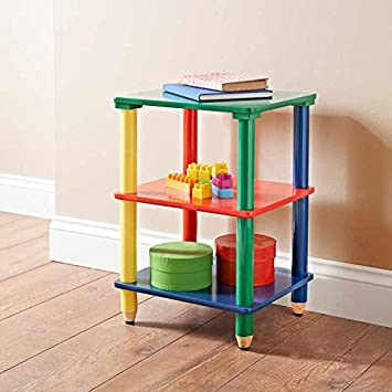 Salerno Kinder Raum Kinderzimmer Bunt Mobel 3 Ebenen Regal Rot Gelb
