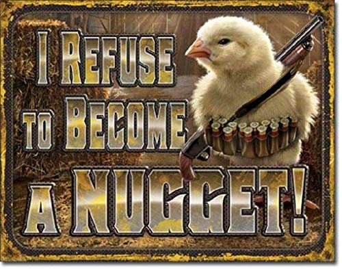 WINDST Personalised I Refuse to Become A Nugget 11.8 X 7.9 in Vintage Metal Tin Sign Plaque Wall Art Poster Decoration