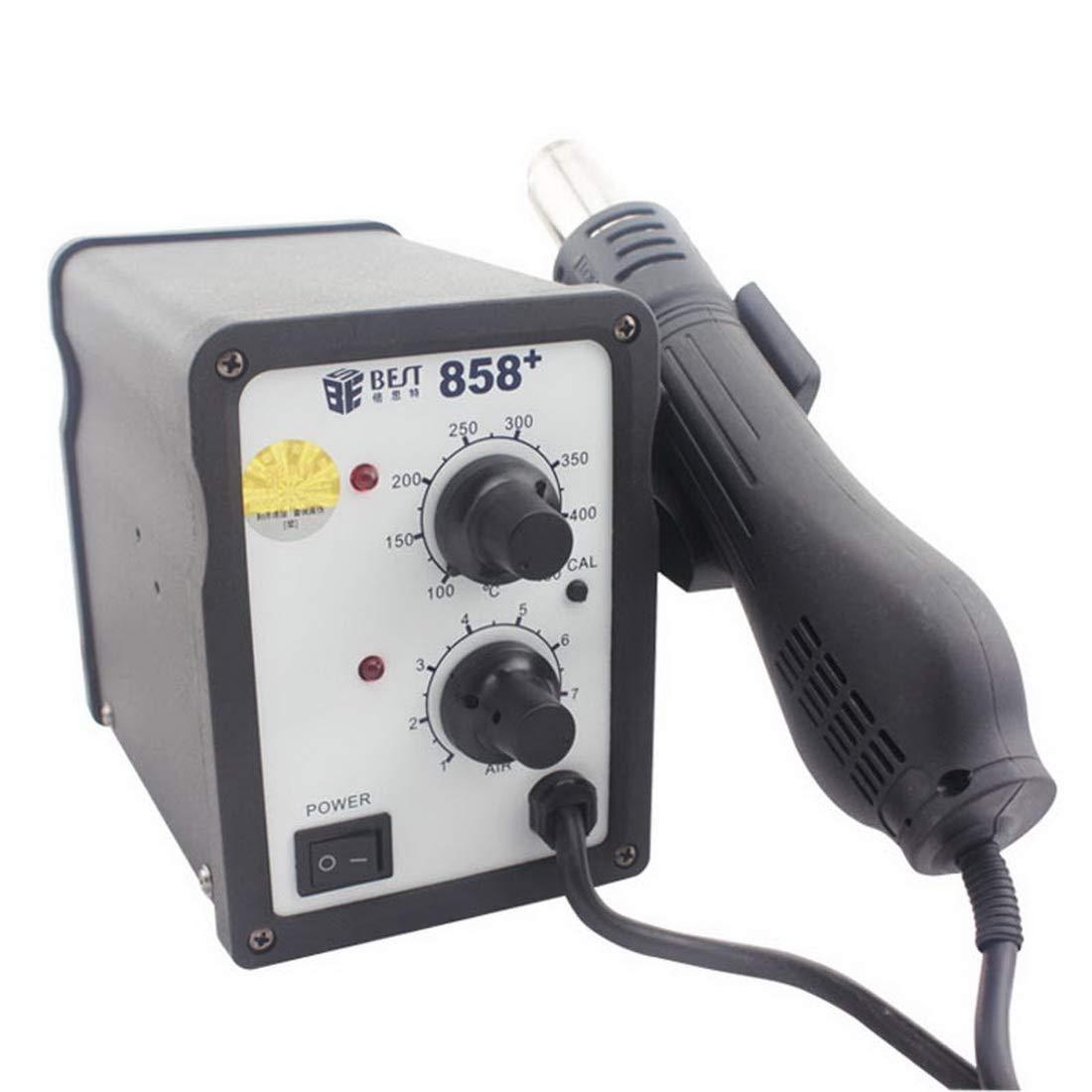 Toos Accessory BST-858+ AC 220V 50Hz 650W Adjustable Temperature Unleaded Hot Air Gun with Helical Wind, EU Plug Hand Tools (Color : S-etp-0240b)