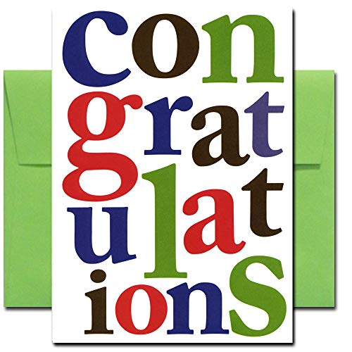 Congratulations Cards: Letters of Congratulation - box of 10 cards & env