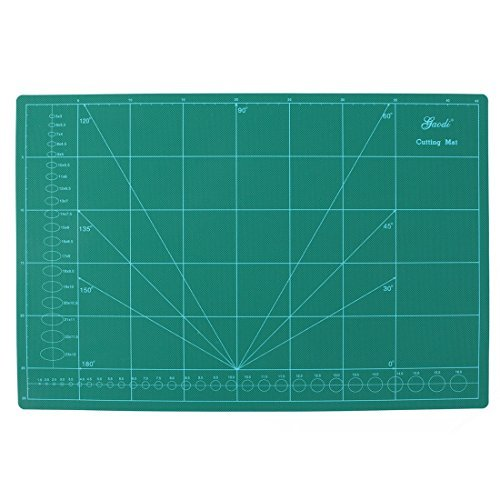 DealMux Plastic Shell Angle Scale Grid Lines Non Slip A3 Cutting Mat 30 x 45cm Green