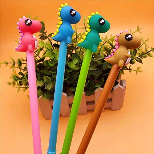 12 Pcs Dinosaur Gel Pens Set,Fine Point (0.5mm), Black,Best Dinosaur Gifts Party Supplies For Boys [12 Dinosaur Ink-Black ]