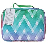 """Kids Lunch Box for Elementary School Boys and Girls by Fenrici   Flexible Soft Sided Compartments   Spacious   Insulated   Food Safe   10""""W x 7.5""""H x 3""""D   Rainbow   Support A Great Cause"""