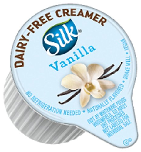 Silk Dairy-Free Creamer Singles, Vanilla, 192 Count (The Best Vegan Coffee Creamer)