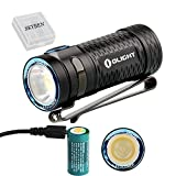 450 lumens led flashlight - Olight S1 MINI Cree XM-L2 LED 450 Lumens Ultra Compact LED Flashlight Smallest Side-switch Flashlight with USB Rechargeable 16340 Battery x 1 and SKYBEN Accessory(S1 MINI HCRI)