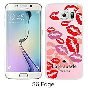 Unique Designed Kate Spade Cover Case For Samsung Galaxy S6 Edge White Phone Case 231