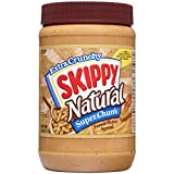 Skippy Natural Super Chunk Peanut Butter Spread, 40 Ounce (Pack of 8)