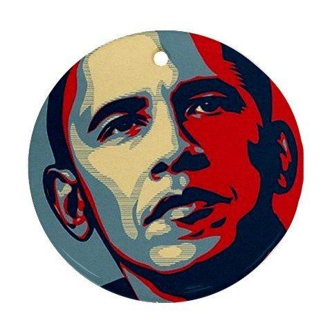 Barack Obama Ornament round porcelain Christmas Great Gift Idea MYDply