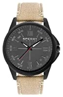 Sperry Top-sider Watch, Men's Kinney Taupe Canvas Strap 44mm 103050 from Sperry Top-sider