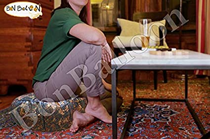 Authentic Ottoman Pouf Pouffe Poufs Footstool Egyptian Moroccan Morocan Handmade Genuine Leather Unstuffed Living Room Decor Floor Cushion Foot Stool ...