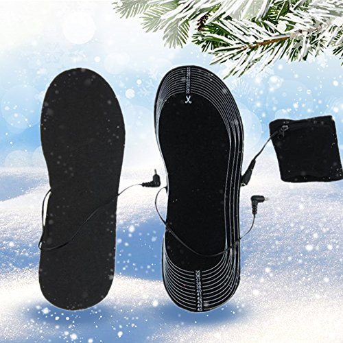 Price comparison product image Heated Insoles, Sweet Mall Cut-to-Fit Multiple Sizes Unisex Flexible Rechargeable Heated Shoes Insoles Boot Mobile Foot Warmer for Hunting Fishing Hiking Camping