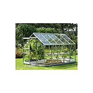 Venus 6200 Green Aluminium Greenhouse 6ft x 10ft - Toughened Glass