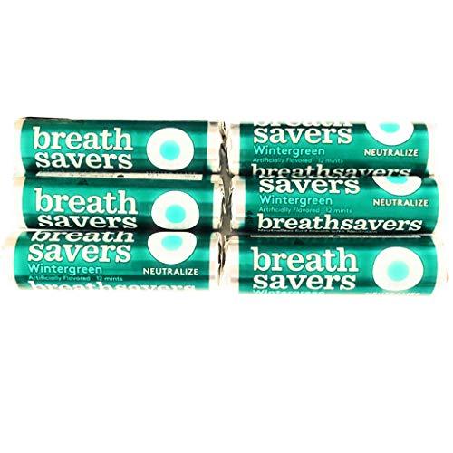 - Breathsavers Wintergreen Mints | 6 Rolls, 12 Mints Per Roll