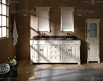 Badezimmermöbel / Badmöbel klassisch / Badmöbel set / Komplettset ... | {Doppel waschtischunterschrank design 55}