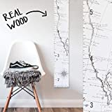 Growth Chart Art | Wooden Map Growth Chart for Kids [Boys & Girls] – Children's Room Décor Height Chart | West Coast Map White