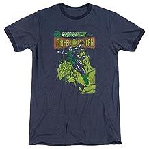 Green Lantern Vintage Cover Mens Adult Heather Ringer Shirt