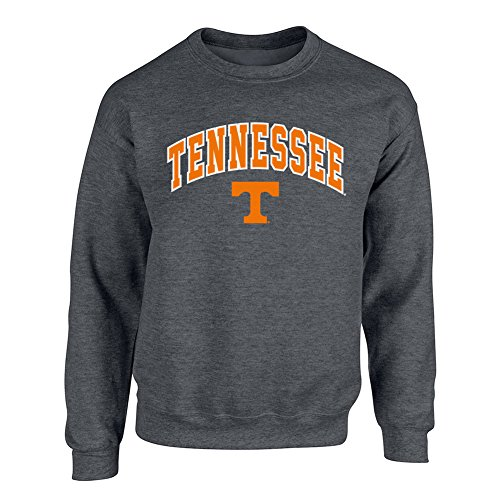 University Tennessee Jersey (Tennessee Volunteers Crewneck Sweatshirt Arch Charcoal - M)