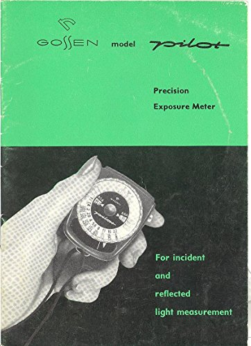 on Exposure Meter For Incident and Reflected Light Measurement Original Instruction Manual ()