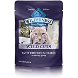 BLUE Wilderness Tasty Toppers Wild Cuts Grain Free Tasty Chicken Morsels in Savory Gravy Wet Cat Food 3-oz (pack of 24)