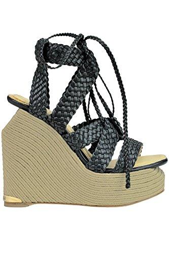 PALOMA MCGLCAT03179E Chaussures BARCELÓ Cuir Compensées Noir Femme grqfExnAwg