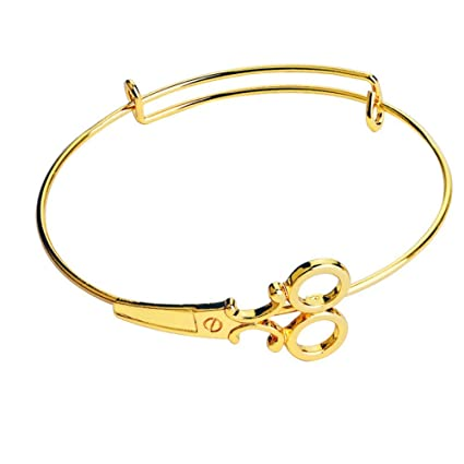 8cde459b873d DLIAAN Pulseras para Mujer Personalidad Apertura Señoras Pulsera Creativa  Moda Oro Tijeras Estilo Pulsera Regalo De