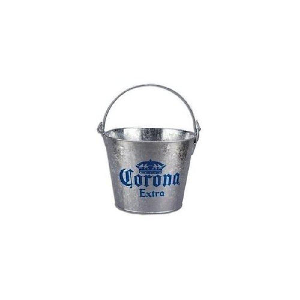 Corona Extra Galvanized Beer Bucket W/Built-In Bottle Opener B-6