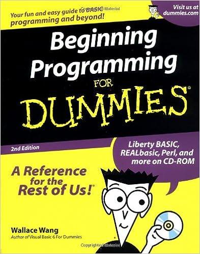 Beginning Programming For Dummies: Wallace Wang