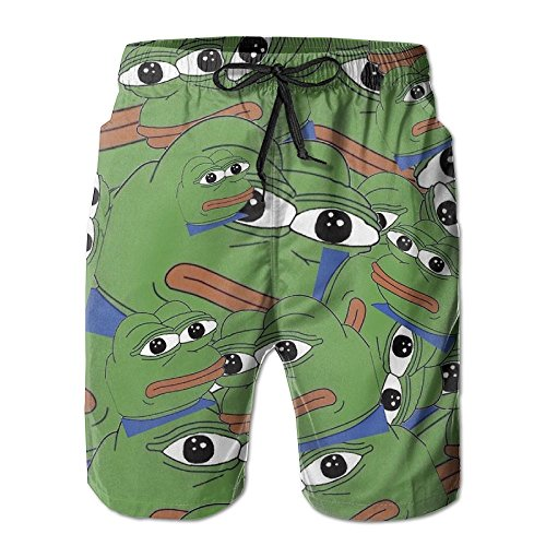 Sad Pepe Not Sad Men Swim Trunks Pants Pocket