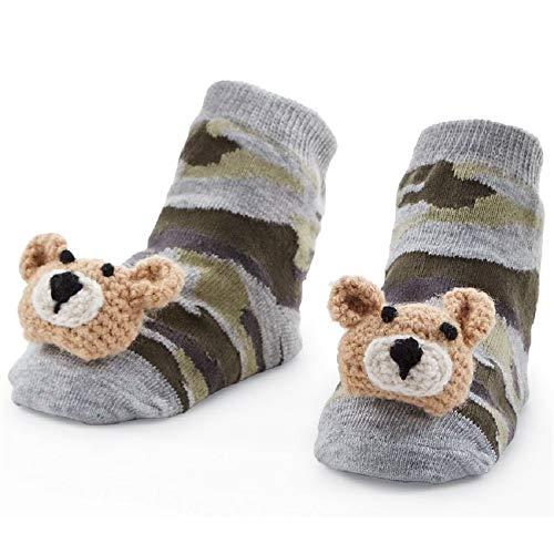 Mud Pie Camo Bear Rattle Toe Socks