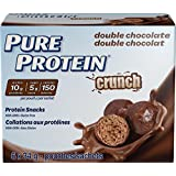 Pure Protein Crunch Protein Snacks Double Chocolate Value Pack, 6 Count