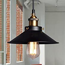 Retro Industrial Iron Hanging Lamp Fixture American Country Style Vintage Creative Loft Pendant Light Shade Diameter 24cm * Height 13cm (For Bar, Restaurant, Coffee house, etc.)