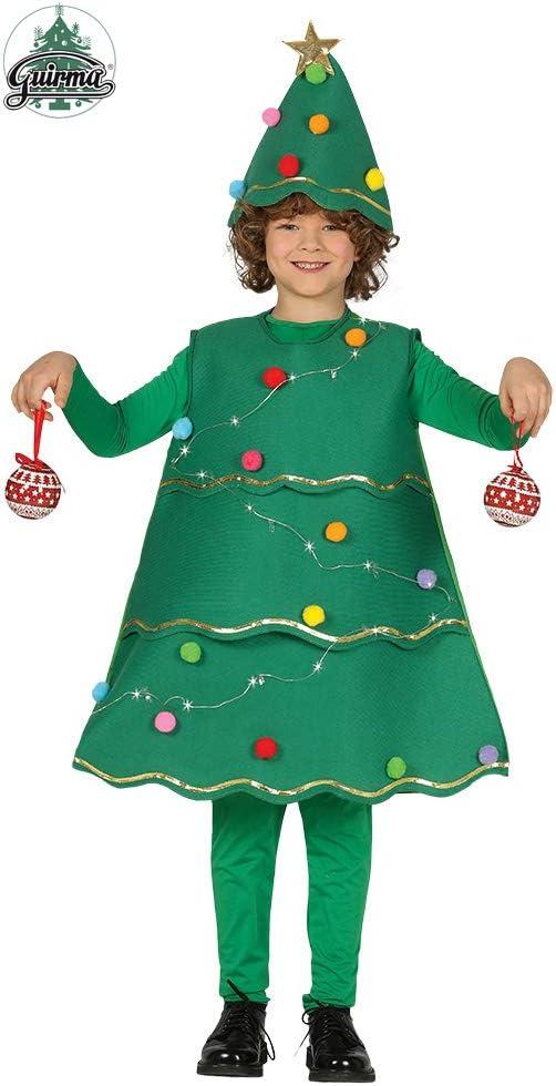 Guirca 41721 - Disfraz Arbol Navidad con Luces, Multicolor, 7-9 ...