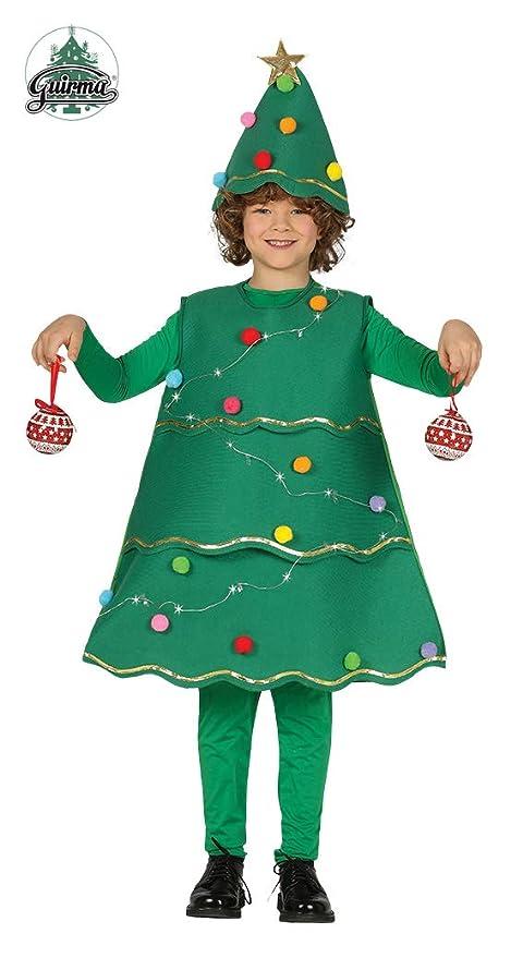 Guirca Disfraz de Árbol de Navidad con Led para Niños: Amazon.es ...