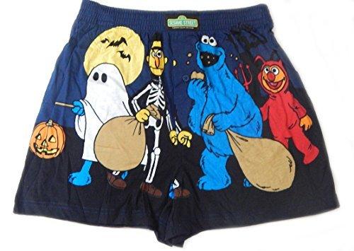 Sesame Street Spooky Men's Boxer Shorts Bert, Ernie, Cookie Monster - Novelty Halloween